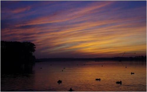 Jezioro Drwęckie #JezioroDrwęckie #Mazury #chmury #niebo #pastele