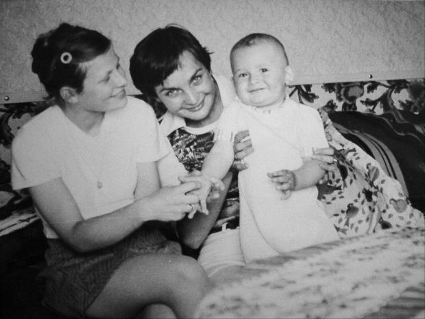 Z mamą i mamą chrzestną #Krzysior