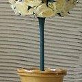 kwiaty z bibu�y r�e kremowe d...