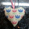 serce z tulipanami #hafty