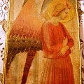 ikona z aniołem #anioł #decoupage #dekupaż #deqoupage #deska #ikona #spękania