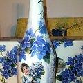 butelka vintage #dekupage #dekupaż #deqoupage #butelka #VintageFiołki #chłopiec