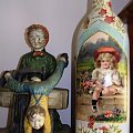 butelka vintage #dekupage #dekupaż #deqoupage #butelka #vintage #dziewczynka