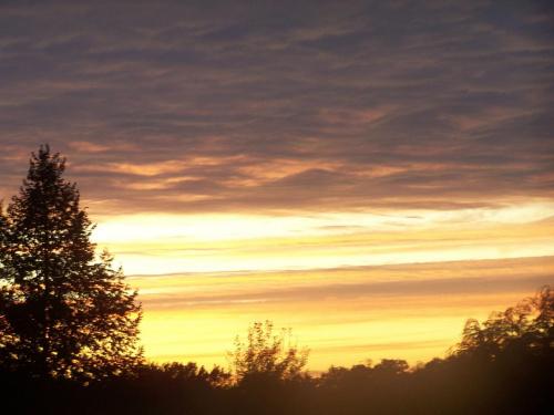 zachód słońca #wiosna #ZachódSłońca