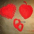 serduszka - wykonane na szydełku #serce #szydełko #ozdoba