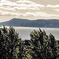 Mjøsa - Hamar #Mjosa #Hamar #chmury #widok #Norwegia