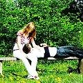...zakochani... #Zakochani #ludzie #para #miłość #ławka #odpoczynek #zieleń