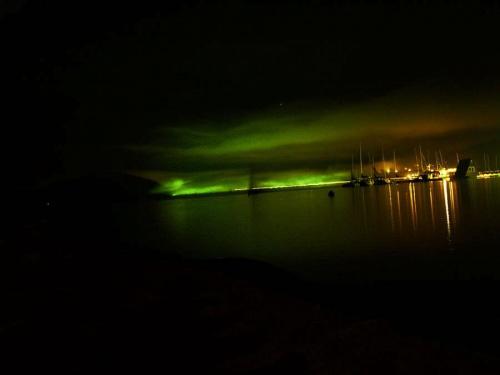 #noc #Solina #niebo #przystań #światła #jezioro