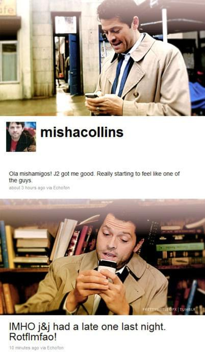 Cały odcinek zabawny, ale twettujący Misha i tak najwspanialszy!