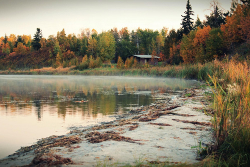 #krajobraz #jesien #jezioro