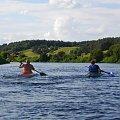 Spływ z nurtem Narwi na odcinku Łomża - Nowogród sierpień 2009.Kajakarze. #krajobrazy #Narew #pontony #rzeki #spływy
