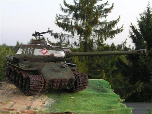 Czołg IS- 2 będący dawniej na wyposażeniu WP. Model wykonał Piotr Najwer - Łodź #Militaria #Modelarstwo