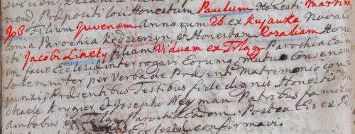 1794 Trląg Job z Kujawek i Rozalia Linety z Trląg