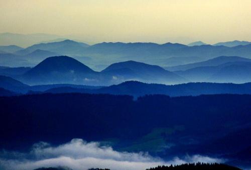 #góry #ZachódSłońca #panorama