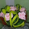 #bibuła #bukiety #krepina #kwiaty #róże