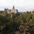 zamek Książ w jesiennych barwach #zamek #Książ #jesień #krajobraz
