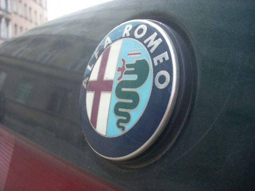#Alfa #Romeo #logo #back #tył