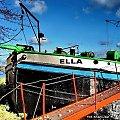 Bydgoska barka ELLA,najstarsza w Bydgoszczy. #barka #BydgoskiWęzełWodny #bydgoszcz #BydgoskiWodniak #ŻeglugaŚródlądowa #MariuszKrajczewski