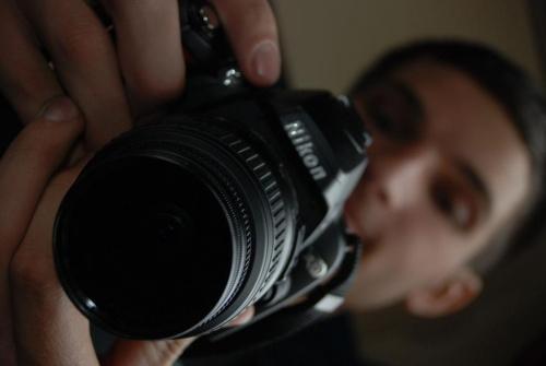 To Ja z moim :D aparacikiem :D podczas przygotowywania sie do zrobienia zdjecia :D Foto By Schneeflocke #Lustrzanka #Mudulinek #Schneeflocke