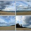 Chmury nad plażą w Górkach Zachodnich #collage #NaPlaży #GórkiZachodnie #NadMorzem #chmury #widok