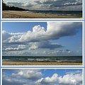 Górki Zachodnie-chmury nad naszym morzem #collage #InaczejNadMorzem #chmury #widok #panoramicznie #plaża